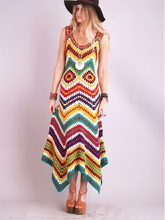 OMG! Love this!  Wish I could find a pattern or figure it out  myself! crochet granny square dress