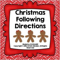 Christmas Following Directions. Repinned by SOS Inc. Resources ...