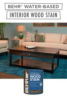 BEHR® Water-Based Interior Wood Stain is an easy way to create a unique and trendy look for your interior wooden furniture. It's used for both horizontal and vertical surfaces, and has amazing one-coat coverage. Available in select stores. Click below to learn more.