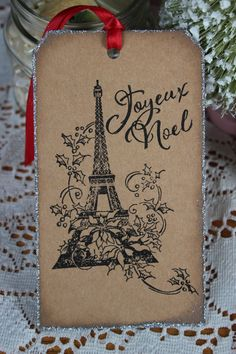 French Christmas Tags Joyeux Noel by SundayPaper on Etsy, $10.00