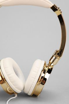 LMNT Metallic Headphones in Gold $40 | Urban Outfitters