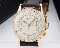 Vulcain Vintage Chronograph 18K Rose Gold for $2,900 for sale from a Trusted Seller on Chrono24