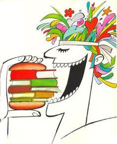 Ler é beber e comer. O espírito que não lê emagrece como o corpo que não come - Victor Hugo   imagem: Ziraldo