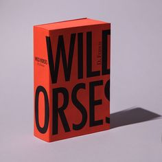 Book cover design for the re-issue of Wild Horses where the design is based on a blood red brick. Editorial Design, Editorial Layout, Magazine Design, Design Bauhaus, Book Design Inspiration, Grid, Horse Books, Identity, Design Poster