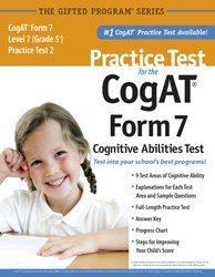 Practice Test for the CogAT® Form 7 Level 7 (Grade 1*) Practice Test 2 by Mercer Publishing,http://www.amazon.com/dp/1937383032/ref=cm_sw_r_pi_dp_9WbDtb0EFY8KD3SM