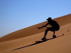 While you are on your desert safari, try sand-boarding! www.aesu.com/alltrips/dxb/