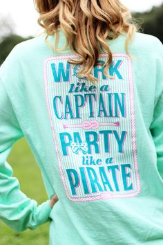 Jadelynn Brooke Southern Party Like a Pirate Long Sleeve Shirt - Memento - Personalized Monogrammed Gifts