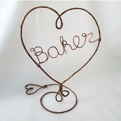Personalized Rustic Cake Topper- HEART - Rustic and Copper Wire Cake Topper with Your Name - Cake Topper, Weddings, Table Center Piece Rustic Cake Toppers, Wedding Cake Toppers, Wedding Name, Our Wedding, Cake Accessories, Wedding Cake Decorations, Cute Wedding Ideas, Here Comes The Bride, Simple Weddings
