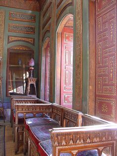 Paintings inside in one of the rooms of the Qasr Al-Azem, قصر العظم Damascus
