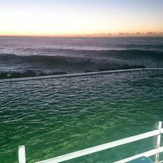(Loc) Posted on May 24 2016 at 06:34AM by vicki.cashin: Beautiful Bronte morning #bronte #beautiful #brontepool #dawn #daybreak #sydney #mybrontesydney #waves