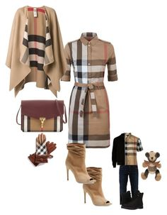 """""""Mommy and son (burberry)"""" by toriano313 ❤ liked on Polyvore featuring Burberry, Replay, River Island and Timberland"""
