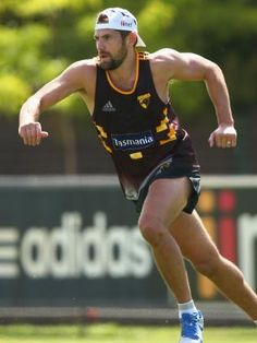 Luke Hodge at pre-season training.  HAWTHORN coach Alastair Clarkson says his players have already passed the critical off-season test as they shoot for a historic fourth-straight premiership.