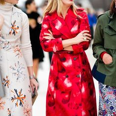 CATCH-a-TREND. A Curation Of Street Style Excellence. #catchatrend #streetstyle #coat #red