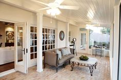 LOVE the brick and white on this sunroom / screened in porch! Fixer-Uppers on HGTV with Chip & Joanna Gaines; Joanna Gaines, Porches, Home Design, Interior Design, Design Ideas, Magnolia Market, Magnolia Homes, Magnolia Farms, Style At Home