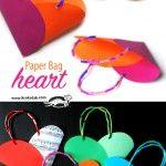 Хартиена чантичка – сърце