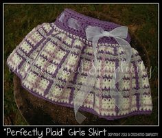 Crocheting: 'Perfectly Plaid' Girls Skirt from A Crocheted Simplicity