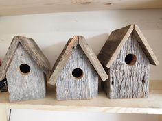 small barnwood birdhouse