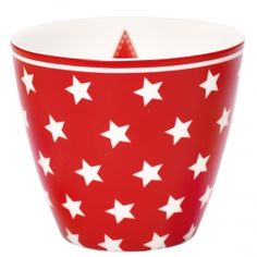 GreenGate Latte Cup - Star Red