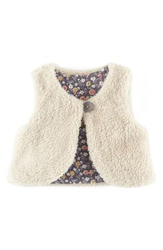 Mini Boden Reversible Fleece Vest (Baby Girls) available at #Nordstrom