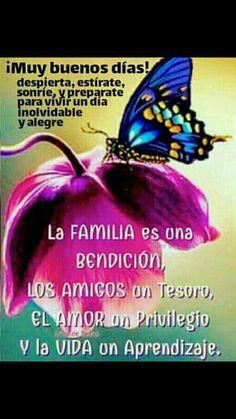 Feliz Domingo! Dia del Senor... La Familia es una bendicion, los Amigos un tesoro, el Amor un privilegio y la Vida un aprendizaje.