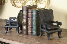 Pair of Chairs Bookends | Making Book Ends Meet