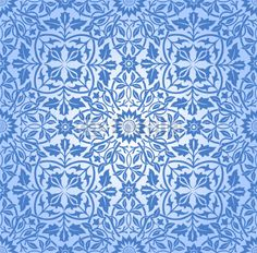 Intertwining Floral Seamless Pattern Blue