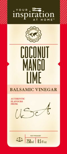Coconut Mango Lime Balsamic Vinegar Nothing beats a BBQ on the beach with the flavours of coconut, mango and lime. Drizzle over your salad, meates or fish for a tropical fiesta Balsamic Vinegar, Beats, Cart, Bbq, Mango, Lime, Coconut, Tropical, Cooking Recipes