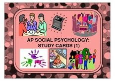 This first set of study cards includes key terms and concepts and their definitions in social psychology. This aligns with AP psychology curriculum. These cards can be printed and given out to students to learn and revise social psychological key terms.