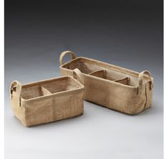 Jute Container with Sewn-In Separators