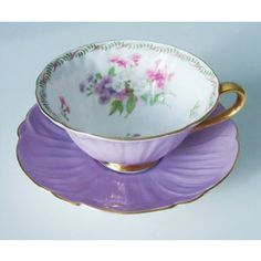 Vintage Lilac Purple Shelley Tea Cup and Saucer Set Lavender ...