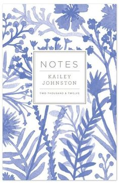 journal decorated with hand watercolored flowers with clean, modern typography by J.Byrten Design