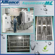 This conveyorized parts washer was designed to clean plastic trays for the automotive industry.