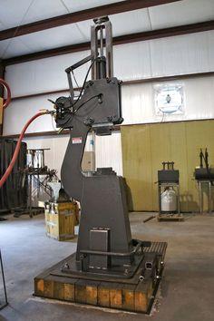 Blacksmith Air Hammer | 165 lb. pneumatic power hammer made by Phoenix Forging Hammers of ...