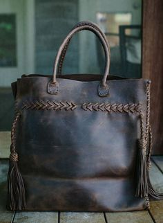 ❖ The Begonia Weekender | Handmade Argentine Leather Tote | SHOP - Lyelle ❖