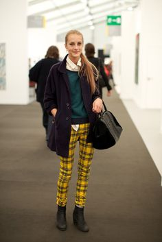 I love these pants! -- On the grounds of Frieze London.  [Photo by Marcus Dawes]