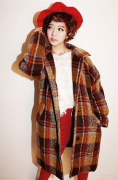 Mono Rich Check Wool Coat  http://www.pinkymint.com/shop/step1.php?number=33782