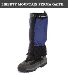 LIBERTY MOUNTAIN PERMA GAITER - L - NAVY. Ski touring or mountaineering, the Perma is a great choice. Made from a lightweight eVENT 3 layer to let the perspiration out and keep you warm and dry. Features: eVENT fabric. Front zip closure. Replaceable rubber strap. Shockcord top. Heavy duty base material. Rubberized abrasion resistant strap. Liberty Mountain.