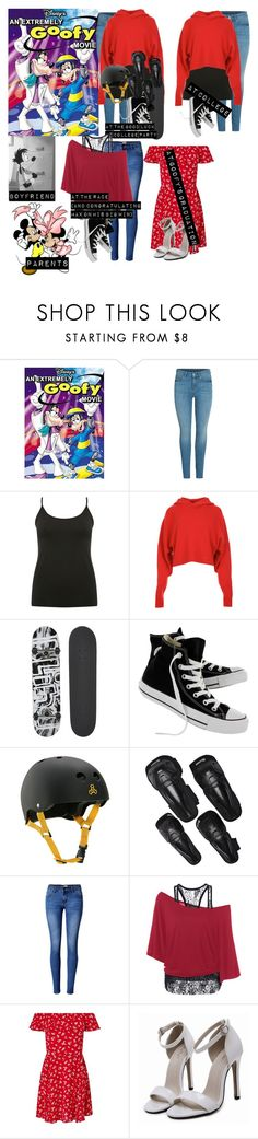 """""""Me in: 'An Extremely Goofy Movie'"""" by j-j-fandoms ❤ liked on Polyvore featuring Bebe, M&Co, TIBI, Disney, Blind, Converse, Triple Eight, Sector 9, WithChic and Miss Selfridge"""