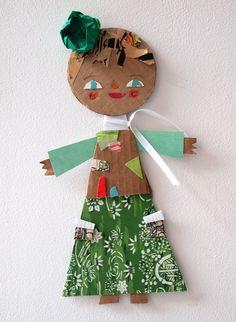 Cardboard girl