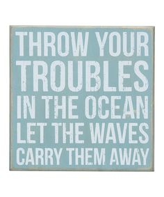 Loving this Blue 'Carry Them Away' Box Sign on #zulily! #zulilyfinds