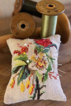 Embroided pincushion