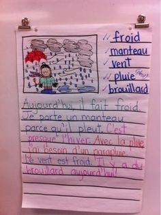 Primary French Immersion Resources - strategy to differentiate writing prompts and vocab