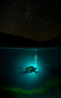 Diving under stars