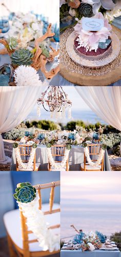 @Tine Printon ..omg I see you being all OVER this! -- Beach Chic Wedding Decor - Belle the Magazine