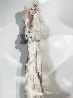 Bride gown by John Galliano (spotted by @Monetlph756 )