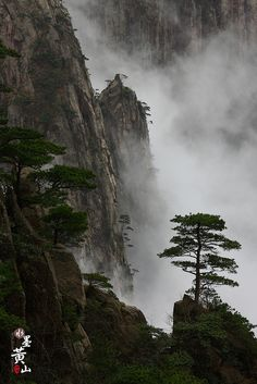 """Mount Huang, also known as Huangshan (Chinese: 黄山; pinyin: Huángshān; literally """"Yellow Mountain""""), is in Anhui Province in China. UNESCO World Heritage Site. Photo by Menglin Gao, via Flickr by Wilson's Vision, via Flickr"""