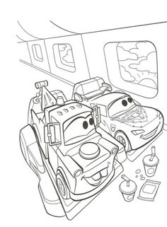 Disney Cars 2 Coloring Pages and Printables For Kids Cars Coloring Pages, Disney Coloring Pages, Christmas Coloring Pages, Coloring Sheets, Coloring Books, Boy Coloring, Coloring Pages For Kids, Adult Coloring, Disney Cars Party
