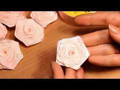 Плоская роза из атласной ленты шириной 2,5 см Видео Мастер Класс