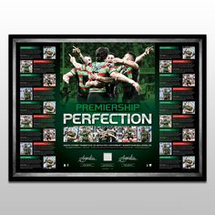 2014 Rabbitohs Dual Signed Premiers Lithograph Sydney