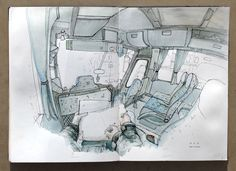 Thomas Cian // On the road sketchbook PART 3 on Behance